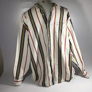 Tommy Hilfiger button down striped shirt large